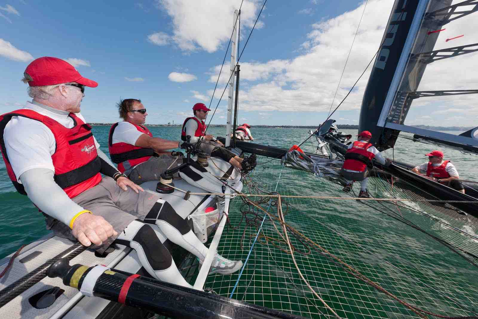Terry Hutchinson steering the AC45